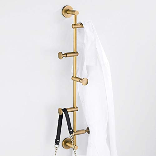 HYXQYYZZ Industriële vintage metalen wandkapstok, decoratieve haken met 360 ° rotatie messing draadtrek, kledinghanger, creatieve kleding, hoed, mantel, hangend opslagrek
