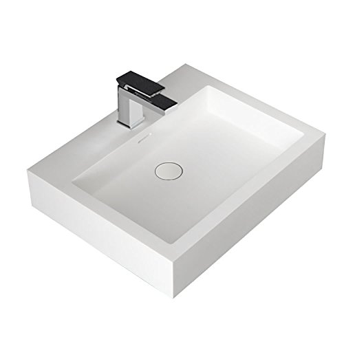 STONEART Waschbecken LP4506 (Mineralguss) weiß/60x48/glänzend
