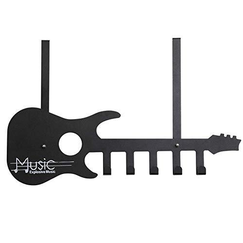 JinSui Percheros de Pared Perchero Montado En La Pared Gancho De La Puerta Metal Forma De Guitarra Colgadero Ganchos De Pared Ganchos for Abrigos Creativo, Negro