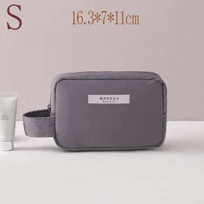PoplarSun Sac cosmétique Voyage Esthéticienne Make up Sac de Maquillage Rapide Sac de Bourse de Sac de Toilette Organisateur Rose Maquillage Sac étanche Pouch (Color : Gray)