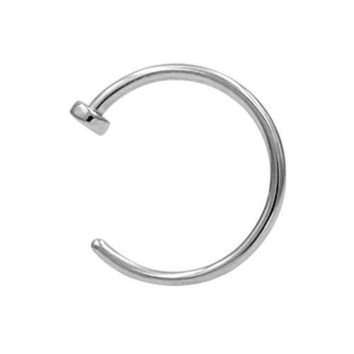 JOFUKIN 316L Surgical Steel Piercing Jewelry 7mm Nose Rings 20 Gauge Lip Ring 20g Nose Hoop Silver Thin Septum Rings for Women Men