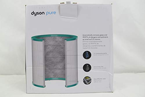 Dyson Air Purifier Replacement (TP01, TP02, BP01) 360° Glass HEPA Filter, Silver/Green