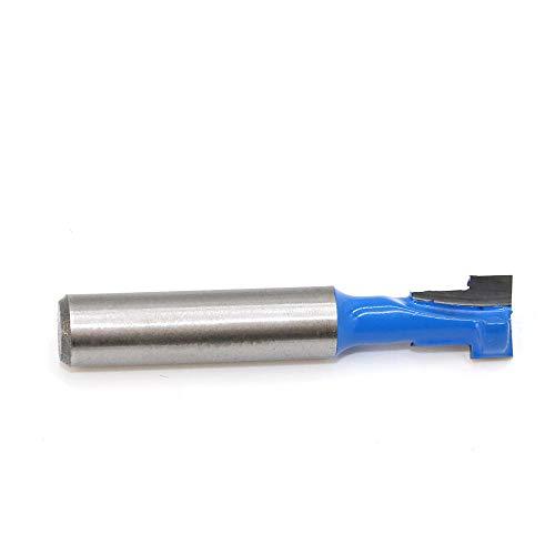 Brocas Para Broca de fresado con ranura en T azul de carburo para perno hexagonal de 3/8 - Vástago de 8 mm