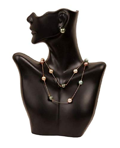 Caddy Bay Collection Necklace and Earring Bust Jewelry Display - Black
