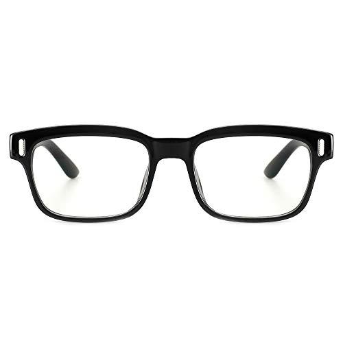 Cyxus Brille mit Blaulichtfilter Ohne Sehstärke, Anti Blaulicht, UV 400, Computer Brille Blue Light Glasses(8084 Schwarz)