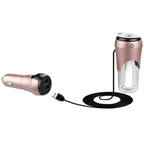 IMIKEYA luchtbevochtiger mini luchtreiniger luchtverfrisser luchtbevochtiger USB auto reizen bureau baby room aroma etherische olie diffuser (wit) 1 PC Rozengoud.