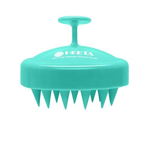 Hair Shampoo Brush Heeta Scalp Care Hair Brush with Soft Silicone Scalp Massager Green