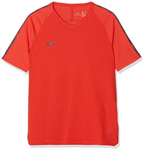 Nike Jungen Breathe Squad T-Shirt, Light Crimson/Anthracite, M