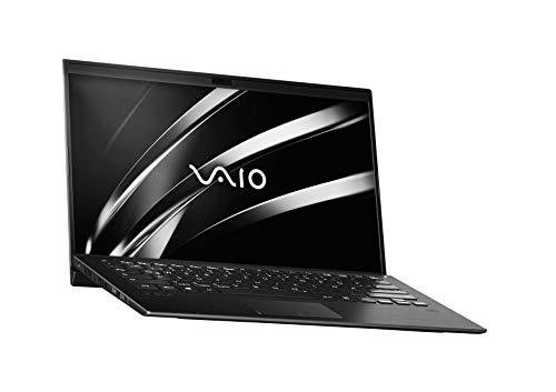 VAIO SX14 Laptop 35,56 cm (14 Zoll) (Full-HD IPS-Bildschirm, Intel Core i7- 8565U, 512 GB SSD, 16GB LPDDR3 RAM, Windows 10 Pro, LTE, W-LAN, Bluetooth, HDMI, USB 3.1, Webcam) Notebook, Schwarz