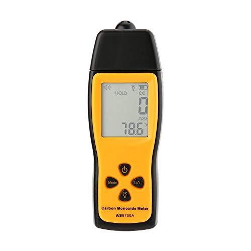 QWERTOUY Hand Kohlenmonoxid-Messgerät Tragbares CO Gasleck-Detektor Gas Analyzer High Precision Detector Gas Monitor Tester 1000ppm