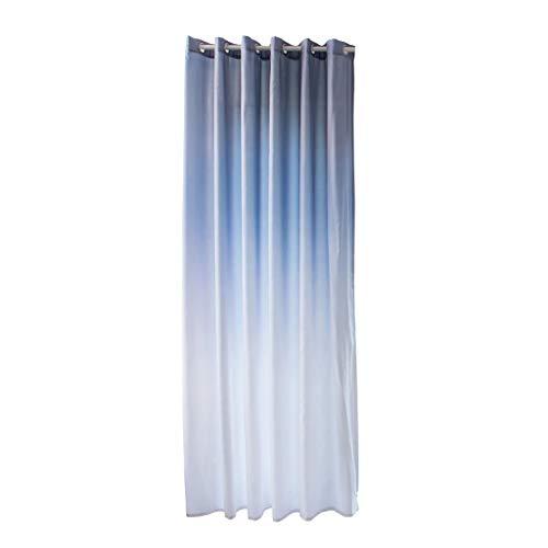 Xmiral Türvorhang Gradient Farbe Ösen Verdunklungsvorhang Gardine 270cmx100cm Für Kinderzimmer Wohnzimmer Schlafzimmer(Grau)