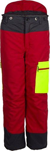 Watex Forstschutz Bundhose Forest Jack RED Schnittschutzhose Klasse1 (66/68, rot-anthrazit-leuchtgelb)