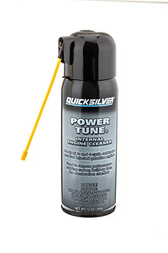 Quicksilver 858080Q03 Power Tune Internal Engine Cleaner, 12oz - for 2-Stroke, 4-Stroke and Fuel-Injected Gas Engines