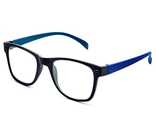 AFERELLE® Silvercare Blue Ray Cut UV420 Anti-reflection spectacle for computer protection (medium black)