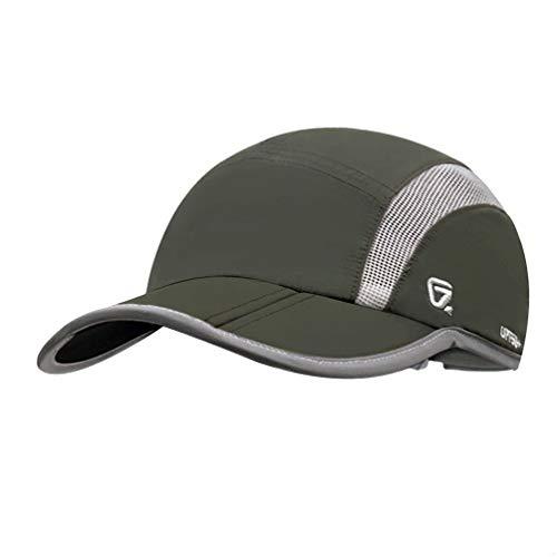GADIEMENSS Quick Dry Sports Hat Lightweight Breathable Soft Outdoor Running Cap (Folding series, series, Amy Green)