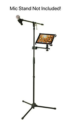 Caddie Buddy Mic Stand Mount/Holder for iPads (iPad Pro 12.9 (12.9 inch Screen/Big One))