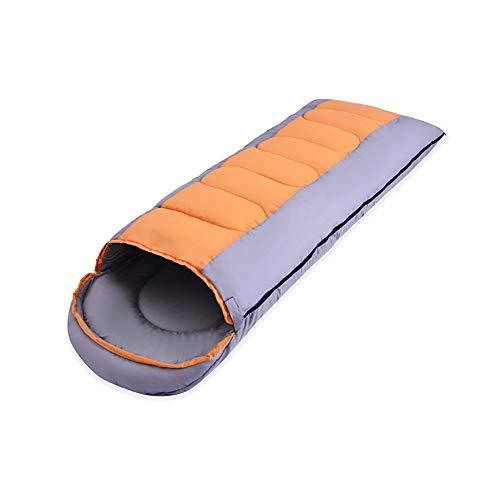 SSDAOO Frühling Und Herbst Doppelt Ultralight Schlafsack Erwachsene Im Freien Schlafsack Im Winter Erweiterung Camping Schlafsack,Orange