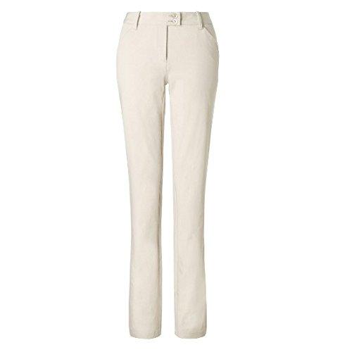 Callaway Solid Pantalon Long de Golf, Femme, Solid, Ecru,...