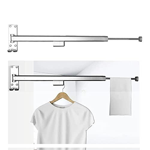 EEUK Tendedero de Ropa Plegable Aluminio, ahorrador de Espacio Perchero retráctil Carga 200 Libras para Balcón, Mudroom, Dormitorio, Piscina y LavanderíaSilver-95cm