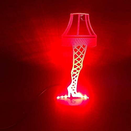 LED 3D Ilusión LED Luz de Noche Pareja tímida decoración del hogar y para codormir Siete cambios de color, con interfaz USB