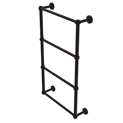 Allied Brass DT-28D-36 Dottingham Collection 4 Tier 36 Inch Ladder Dotted Detail Towel Bar, Oil Rubbed Bronze