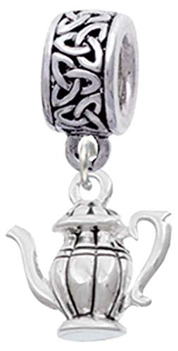Delight Jewelry Silvertone Tea Pot - Celtic Knot Charm Bead