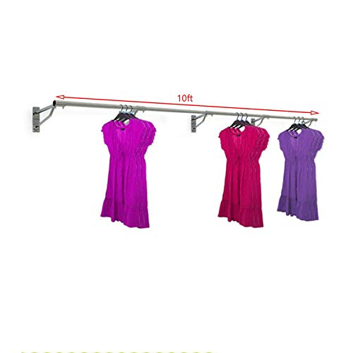 Complete Retail Source ltd Appendiabiti da Parete Appendiabiti Rack 3ft (10ft x 25mm Tubo & 5 staffe)