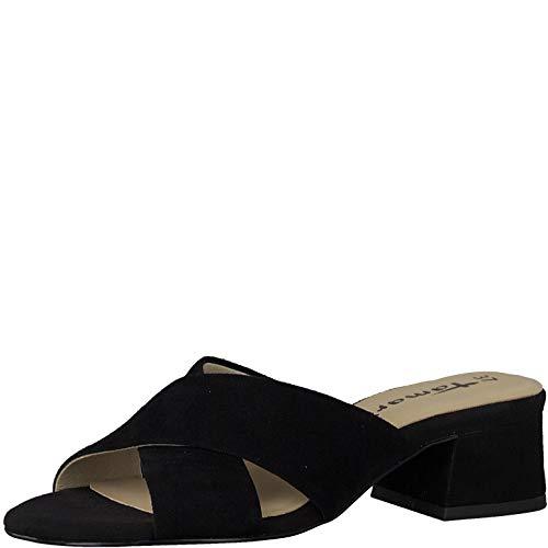 Tamaris Femme Mules et Sabots 27235-34, Dame Mules, Mule,Pantolette,Pantoufles,Chaussons,Diapositives,Black,40 EU / 6.5 UK