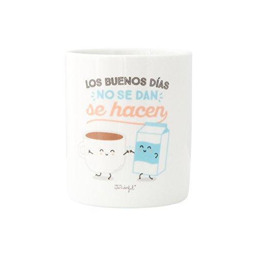 Mr; Wonderful Woa03817Es Taza Los Buenos Días No Se Dan Se Hacen, Multicolor