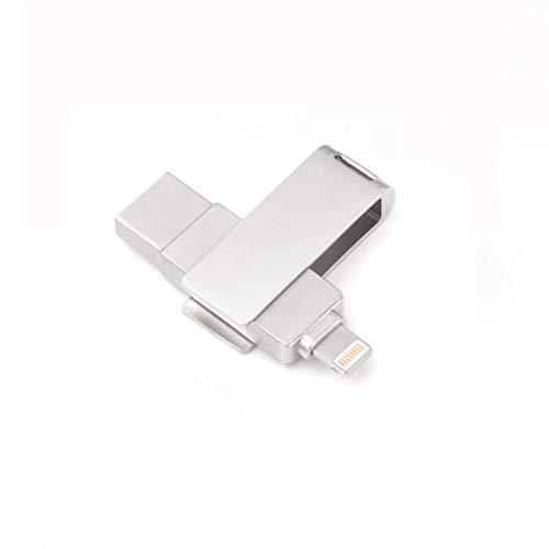 RUIHUA Flash Drive 360 ° de rotación del USB para el teléfono móvil del USB Flash Drive 2-en-1 OTG Metal Unidad Flash USB,32gb