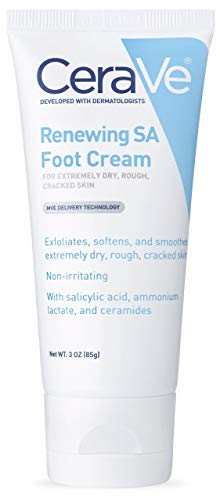 CeraVe Foot Cream with Salicylic Acid | 3 Ounce | Foot Cream for Dry Cracked Feet | Fragrance Free | ⭐️ Exclusive