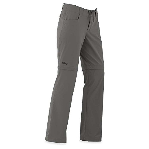 Outdoor Research Women's Ferrosi Convertible Pants, Pewter, 4