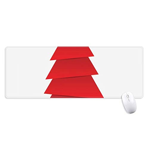 beatChong Extracto del Árbol De Navidad De Origami Patrón Antideslizante Alfombrilla De Ratón Grande Bordes Oficina De Juego Extendido Titched Regalo Estera Ordenador