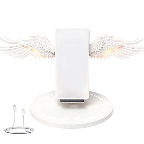 ZChun Universelle Bunte LED Qi Wireless Ladestation, 10W Angel Wings Fast Charger Handy