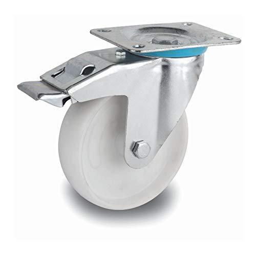 Uzman-Versand Lenkrollen, Schwerlastrollen Polyamidrad 80mm, 100mm, 125mm, 150mm, 200mm Polyamid-Rad (100mm mit Bremse) Transporträder Einbaurad Möbelrad Industrieräder