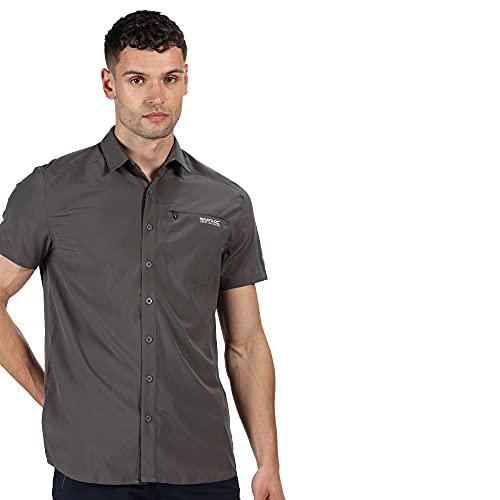 Regatta Chemise KIOGA II légère et Respirante avec aération au Dos et Poche Poitrine Shirts Homme, Magnet, FR : S (Taille Fabricant : S)