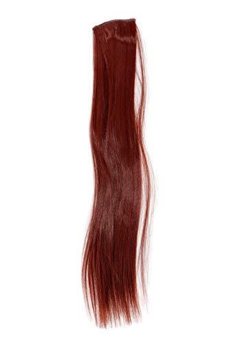 2 Clips Extension avec mèches lisses, rouge YZF-P2S18-35 45cm/ 18inch Extension capillaire postiche Teinte: 35