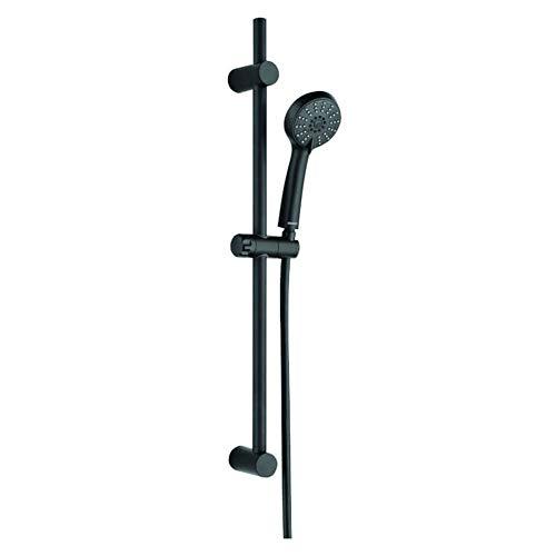 VBChome Duschset schwarz 3 Strahlarten Duschstange und Handbrause, Duschbrause mit 3-fach verstellbarem Duschkopf Brauseset mit Duschsäule Regendusche Duschpaneel mit Schlauch