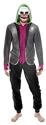 Batman's The Joker Suicide Squad Fleece Onesie Hoodie Pajama for men