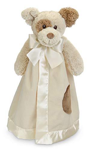 Bearington Baby Lil' Spot Snuggler, Puppy Dog Plush Stuffed Animal Security Blanket, Lovey 15'