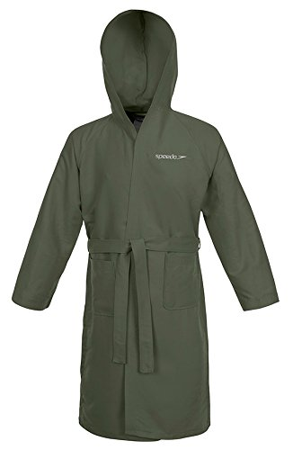 Speedo Microfiber Albornoz, Hombre, Verde (Army Green), M