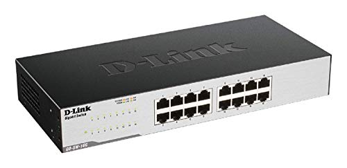 D-Link GO-SW-16G Gigabit Easy Ethernet Gigabit Desktop Switch, nero