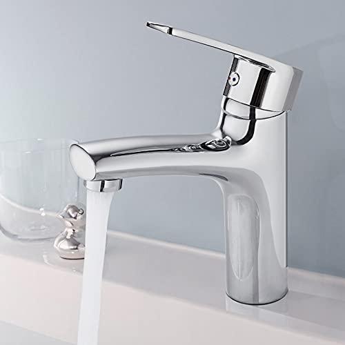 BONADE Wasserhahn Bad Einhand-Waschtischbatterie mit Komfort-Höhe, Armatur für Waschbecken Einhebelmischer Waschtischarmatur aus Messing und Verchromt, Mischbatterie für Heißes und Kaltes Wasser