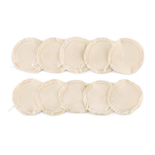 Klarstein Tropfen-Textilfilter • Ersatzfilter • Kaffeefilter • Vorratspackung • 10-teilig • Dauerfilter: mehrere Brauprozesse • 100% Baumwolle • für Klarstein Tropfen-Siphon-Kaffeemaschine • Weiß