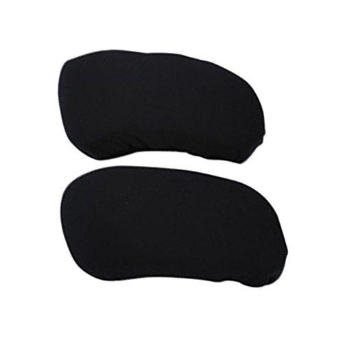 2 STK. Elastische Armauflage, Armlehnen Polster, Ellenbogen Kissen für Drehstuhl Bürostuhl - Schwarz