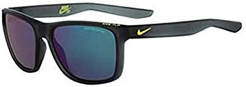 NIKE EV0989-063 Flip R - Gafas de sol (marco gris con lente de destello verde), color antracita mate