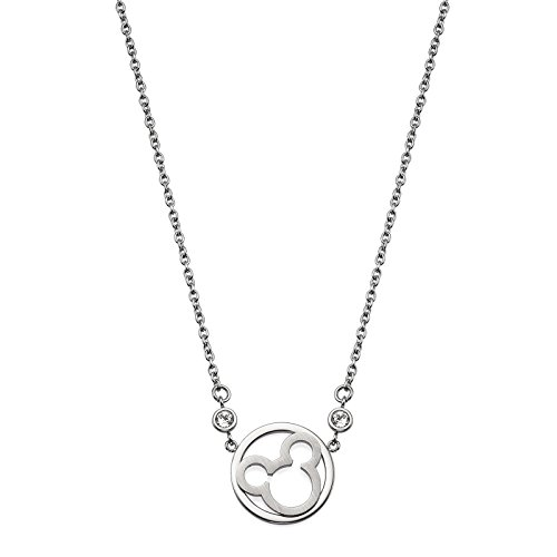 Collier pour femme bijoux Disney original en acier Swarovski blanc