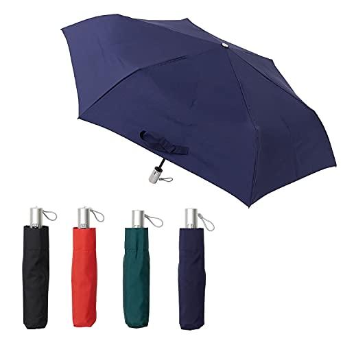 [ムーンバット] urawaza(ウラワザ) 自動開閉式折りたたみ傘 無地 ネイビーブルー 55㎝【3秒で折りたためる傘】