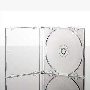 Cajas para CD/DVD Slimline Jewel de 5,2 mm para 1 disco con bandeja transparente (paquete de 25) de la marca Dragon Trading