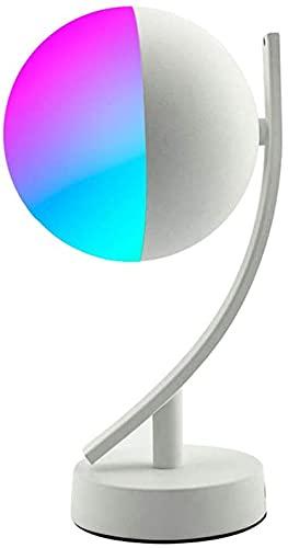 Lámpara De Mesa Led Lámpara De Mesita De Noche Inteligente, RGB Led Luz De Noche Lámpara WiFi Compatible para Niños, Dormitorio Y Más